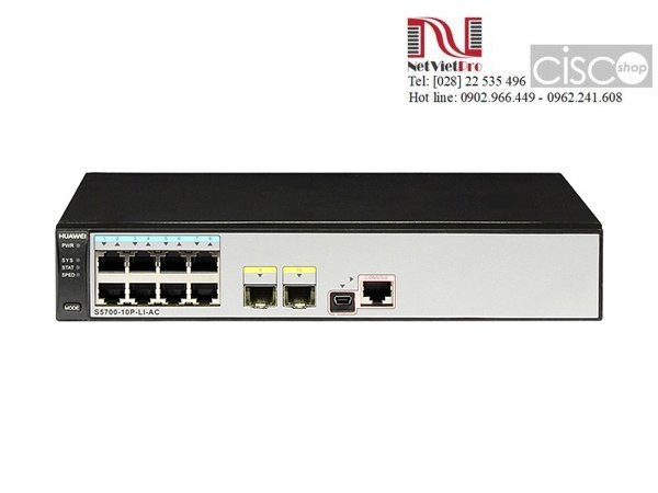 Switch Huawei S5700-10P-LI-AC 8 Ethernet 10/100/1000 ports, 2 Gig SFP