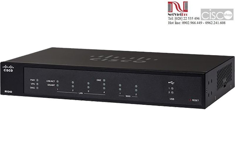Router Cisco RV340-K9-G5 Dual WAN Gigabit VPN